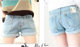Wholesale Korean Slim Skinny Models - Wholesale-2015 Summer models new clothes fashion Korean Women Slim thin waist denim shorts, boots,female wild tide