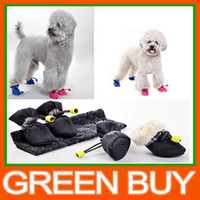 Wholesale Set Pet Dog Shoes Footwear Thickening Winter Inside Fur Rain Boot Dog Clothes Waterproof Rain Shoes Love Dog