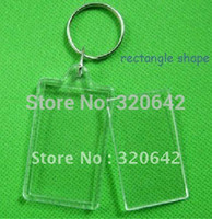 acrylic blanks - Blank Acrylic Rectangle Keychains Insert Photo Keyrings Key ring chain quot x quot plastic photo frame keychain