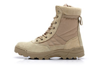 work boots - Military Tactical Swat Men Boots Combat Outdoor Army Desert Hiking Long Work Botas Shoes Travel Leather High Autumn Boots Male