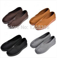 art shaolin kung fu - High Quality Monk Shoes Shaolin Buddhist Monk Cotton Kung Fu Shoes martial arts Tai Chi footwear