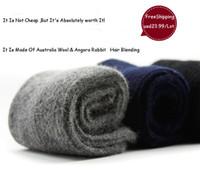 angora free - Top Quality Luxury Men Winter Warm Ultra Thick Cashmere Socks Wool Socks Angora Rabbit Hair Socks Pairs