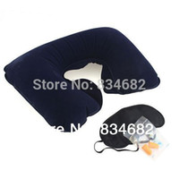 airplane mask - J G in Travel Set Inflatable Neck Air Cushion Pillow Eye Mask Ear Plug for Flight Airplane Neck Pillow