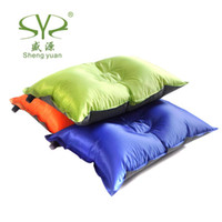 bedding wedge - New Outdoor Camping Travel Automatic Inflatable Pillow Sleeping Bags Tent Pillows Compression Cushion Bedding Set