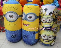 adult back pack - Despicable Me Cyclinder Pillow Minion Back Pack Bolster Stuffed Cushion Plush