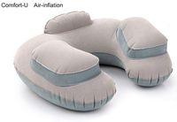 air travel comfort - in Travel Set U Comfort Air inflatable Cushion Pillow Inflator Ear Plug Eye Shade Bag Convenient Trip