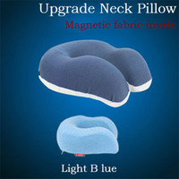 airplane headrest pillow - New Almofada De Pescoco Travel U Shape Neck Pillow To Sleep High Qulity Magnetic Therapy Airplane Headrest