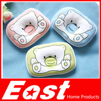 bear memories - EAST baby head shape pillow Infant bedding print bear oval shape cotton baby shaping pillow high quality factory selling