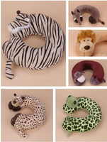 Cheap Wholesale-Style Select Kids Child Neck Protect Animal U Shape Pillow PP Cotton Stuffed & Plush Pad For Car Traveling Take A Plane Naps