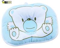 bear massage - Umiwe Blue Bear Soft Cotton Baby Infant Toddler Sleeping Flat Head Support Pillow Positioner