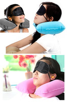 air travel comfort - Inflatable Neck Pillow Travel Pillow Comfort Air Rest Car Cushion