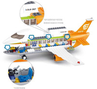 airport set - Sluban M38 B0367 construction eductional Bricks Building Blocks Sets aviation series International Airport children toys