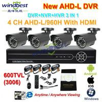 achat en gros de kits de caméras de dvr-Gros-DHL Livraison gratuite 4CH 960H AHD-L 1080P HDMI DVR / NVR 600TVL CCTV extérieur étanche caméra de sécurité du système d'accueil Kit de surveillance