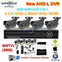 Wholesale DHL Freeshipping CH H AHD L P HDMI DVR NVR TVL Outdoor Waterproof CCTV Camera Home Security Surveillance Kit System