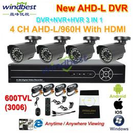 2016 caméra pour la sécurité cctv Gros-DHL Livraison gratuite 4CH 960H AHD-L 1080P HDMI DVR / NVR 600TVL CCTV extérieur étanche caméra de sécurité du système d'accueil Kit de surveillance caméra pour la sécurité cctv promotion