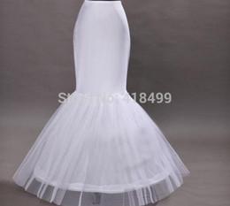 2017 falda de crinolina sirena Venta por mayor de alta calidad blanco 1 aro sirena resbalón completo falda crinolina de la ENAGUA para boda de mujer en Stock falda de crinolina sirena en venta