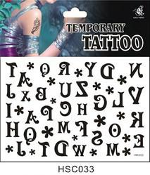 Wholesale Minimum order Can be mixed batch hsc033 product A variety of design one time Tattoo Stickers