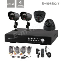 Wholesale H CH Real Time Network DVR D1 recording with PC Day and Night IR Weatherproof Security Camera CH DVR Kit for CCTV Systems