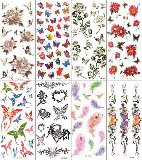 Wholesale girls temporary tattoo waterproof body tattoo for Wholesale temporary tattoos