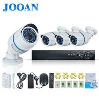 Venta al por mayor de 4 canales Jooan-720p sistema de circuito cerrado de televisión poe poe ip exterior mini registrador de la cámara HD de 4 canales de Seguridad de vigilancia de vídeo doméstico HDMI P2P POE CCTV NVR