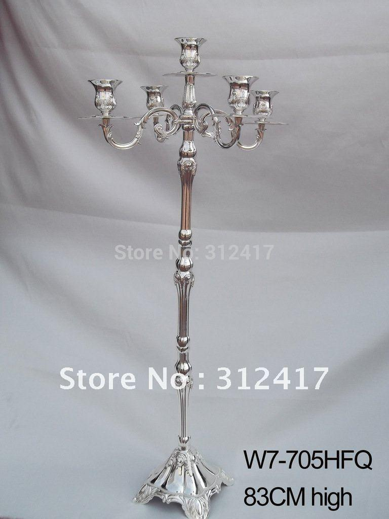 Wholesale hotsale arm gold and silver metal candelabra