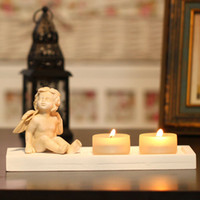 angels bowling - seated angel tealight candle holder zakka cute candlestick holiday supplies cadels home decoration