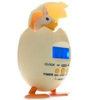 Cheap Creative alarm clock,duck alarm clock,timer rings,creative gifts, digital display alarm clock, beige