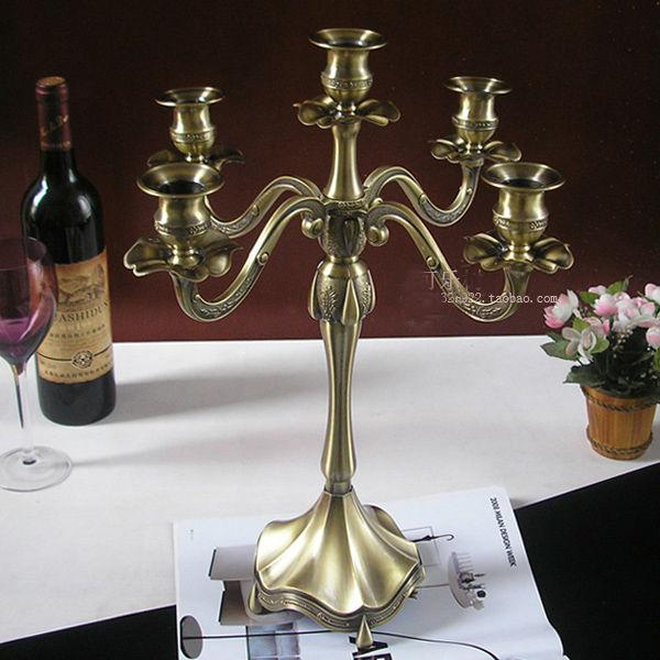 Wholesale light bronze metal candle holder stand