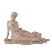 polyresin statue - Classical resin art statue candle holder girl statue candlestick for gifts home office decoration sandstone crafts cm