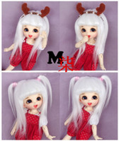 Wholesale quot cm BJD doll fabric fur wig white for PukiFee SD Doll Antiskid