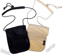 Wholesale Travel Necessity accessories Secure Passport Holder Neck Pouch Card Ticket Money Secret Security Wallet Holster Bag