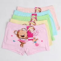 beautiful bamboo fiber - Children Briefs Beautiful Print Bear Character Bamboo Fiber Short pants girls calcinhas underwear princesses