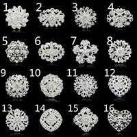 no minimum order - No minimum order Fashion brooches pins silver vintage crystal brooch bouquet for wedding womens brooch