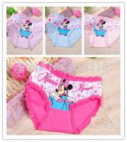 Wholesale cartoon children s underwear cotton boxer underwear for girls 12pcs kids pants MK3
