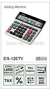 Wholesale-Free Shipping DS-120TV Brand New Desk Calculator