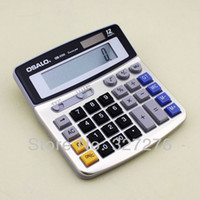 advanced solar power - Advanced OSALO OS Classical electronic calculator two way power solar electronic calculator with metal display