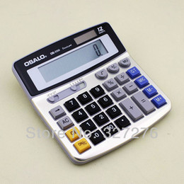 Wholesale Advanced OSALO OS Classical electronic calculator two way power solar electronic calculator with metal display