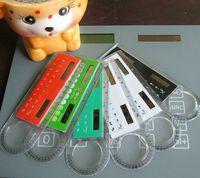 belt calculator - Multifunctional Design Easily Usinglearning supplies ruler calculator belt magnifier cm ruler solar calculator