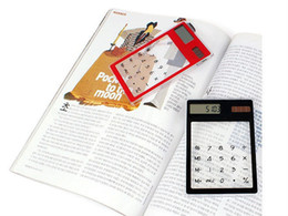 Wholesale Transparent Solar Powered Calculator Clear Value Calculator promotion mini Calculator