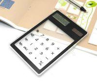 battery power supply design - Mini solar brightening transparent calculator slim and stylish card design button batteries and solar dual power supply