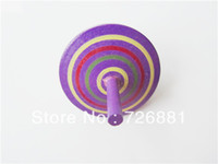 Wholesale Cute Mini Color Wooden Spinning top Toys Wooden Toys Funny Wooden Toys Christmas and NEW Year Gift