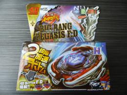 Wholesale-Beyblade Metal Fusion 4D set BIG BANG PEGASIS F:D BB105 kids game toys Christmas gift