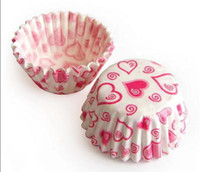 Wholesale Tart cake chocolate paper cases cupcake with Heart Mini total Diameter is cm box