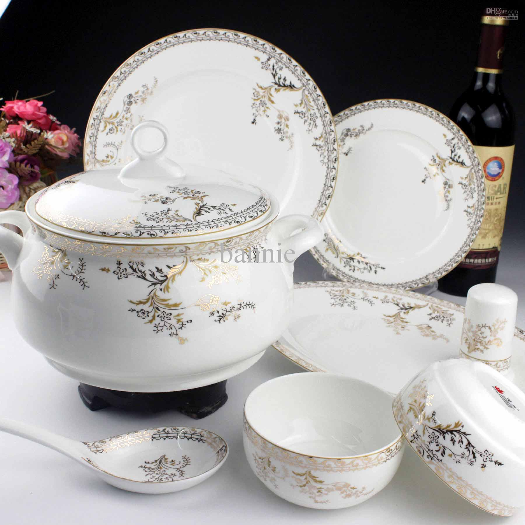 bone china classic european floweral design porcelain. Black Bedroom Furniture Sets. Home Design Ideas