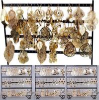 bulk charms - pairs Bulk Jewellery Gold P Dangle Earrings Charm Eardrops Fashion Hollow out Jewelry Free SHip