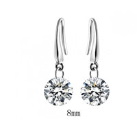 au gold element - White Gold plated austrian crystal drop earrings fashion Jewelry make with Au crystal element
