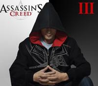 assassin s creed brotherhood hoodie - Assassin creed brotherhood DESMOND Hoodie white black hawk hood coat fleeces guard coat