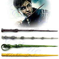 Cheap Wholesale-Free Shipping Collection Wizard Harry Potter Magic Wand Without LED Deathly Hallows Hogwarts Gift