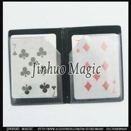 Wholesale Magic cards summ Optical melt wallet with magnet with best quality magic trick for magic props