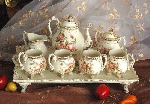 Bone china classic italy style porcelain tableware teapot and mug set wholesa - Vaisselle de luxe marque ...